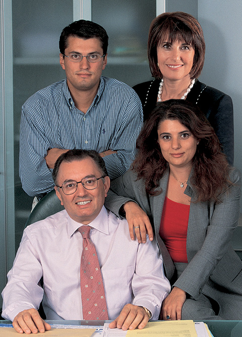 Giorgio Squinzi Mapei - con la famiglia - Marco e Veronica Squinzi e la moglie Adriana Spazzoli