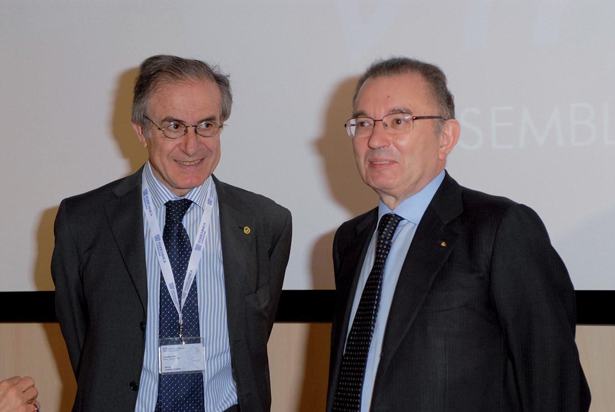 Alberto Quadrio Curzio e Giorgio Squinzi - Mapei