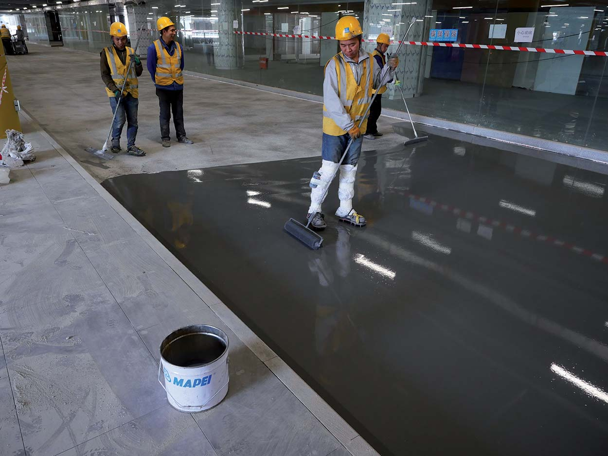 Applicazione resine Mapei_Pavimentazioni Mapei nell'aeroporto Daxing International Airport di Pechino