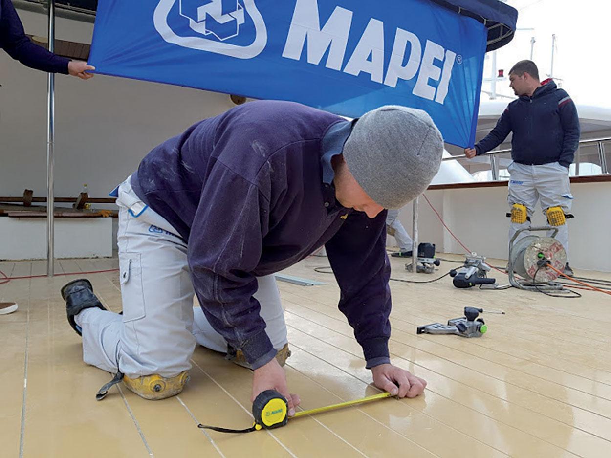 Yacht Dalmatino-Corona-Casanova_Croatia_Mapei products_Marine_installation