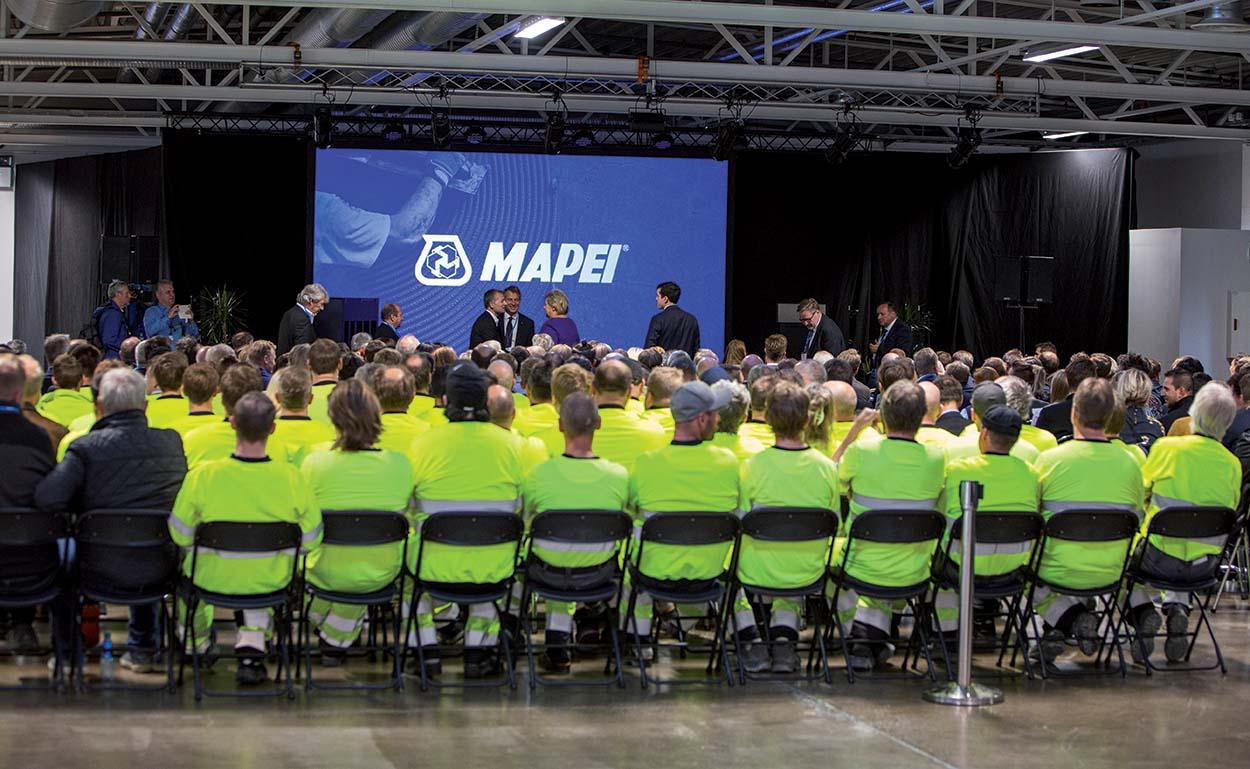 Mapei amplia lo stabilimento produttivo in Norvegia_evento celebrativo