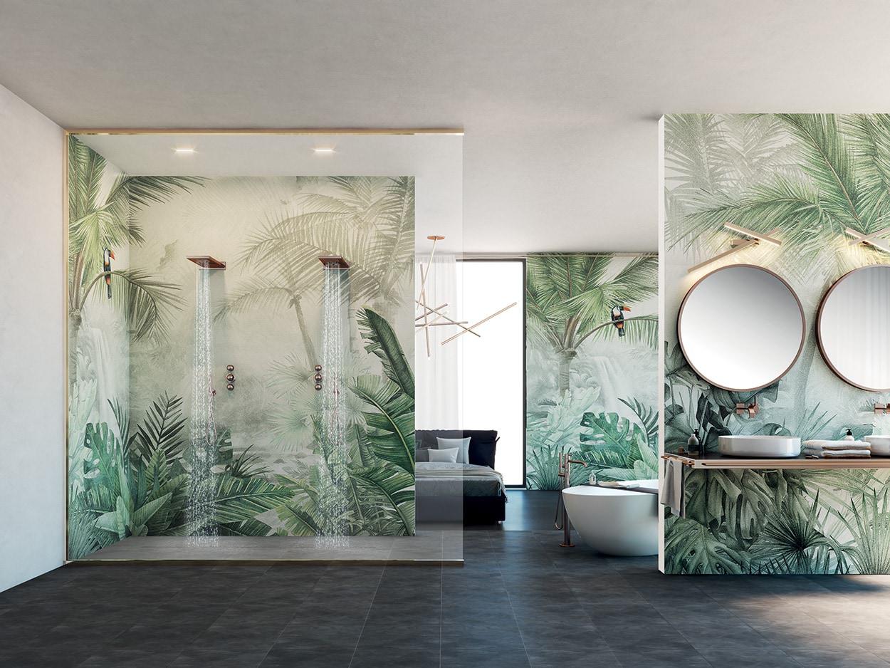 Le soluzioni Mapei per docce e ambienti umidi - carta da parati e fibra di vetro
