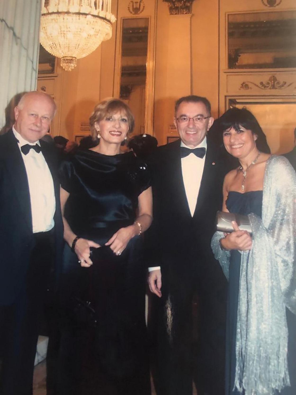 Franco Giorgetta - Laura Squinzi - Giorgio Squinzi - Adriana Spazzoli