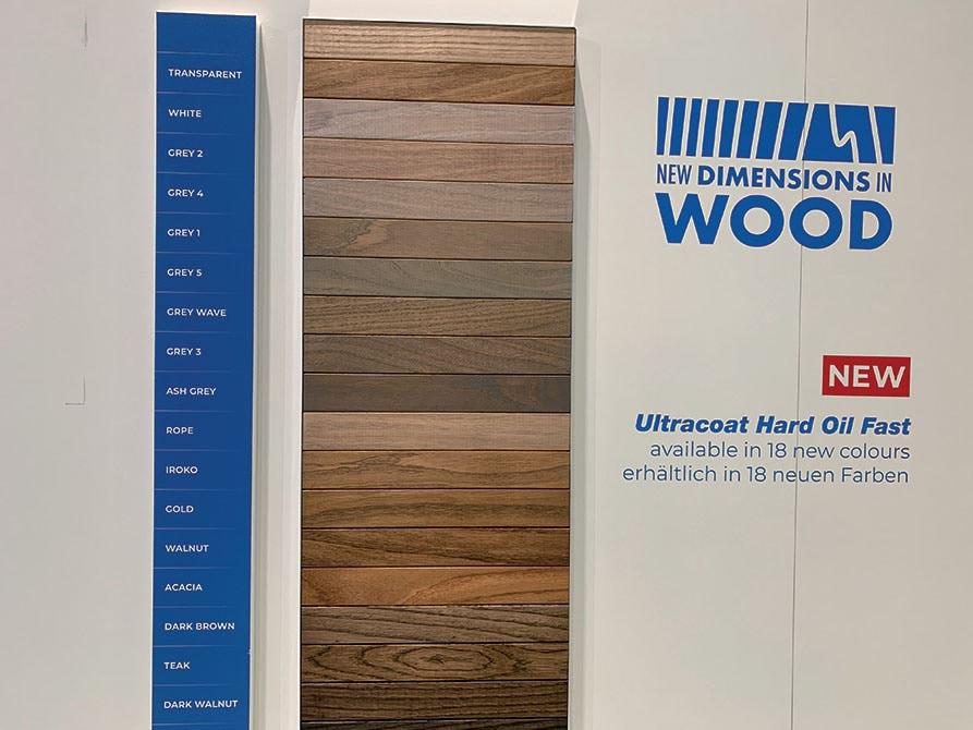 La nuova Linea ULTRACOAT HARD OIL FAST di Mapei propone 18 colori per la finitura del legno.