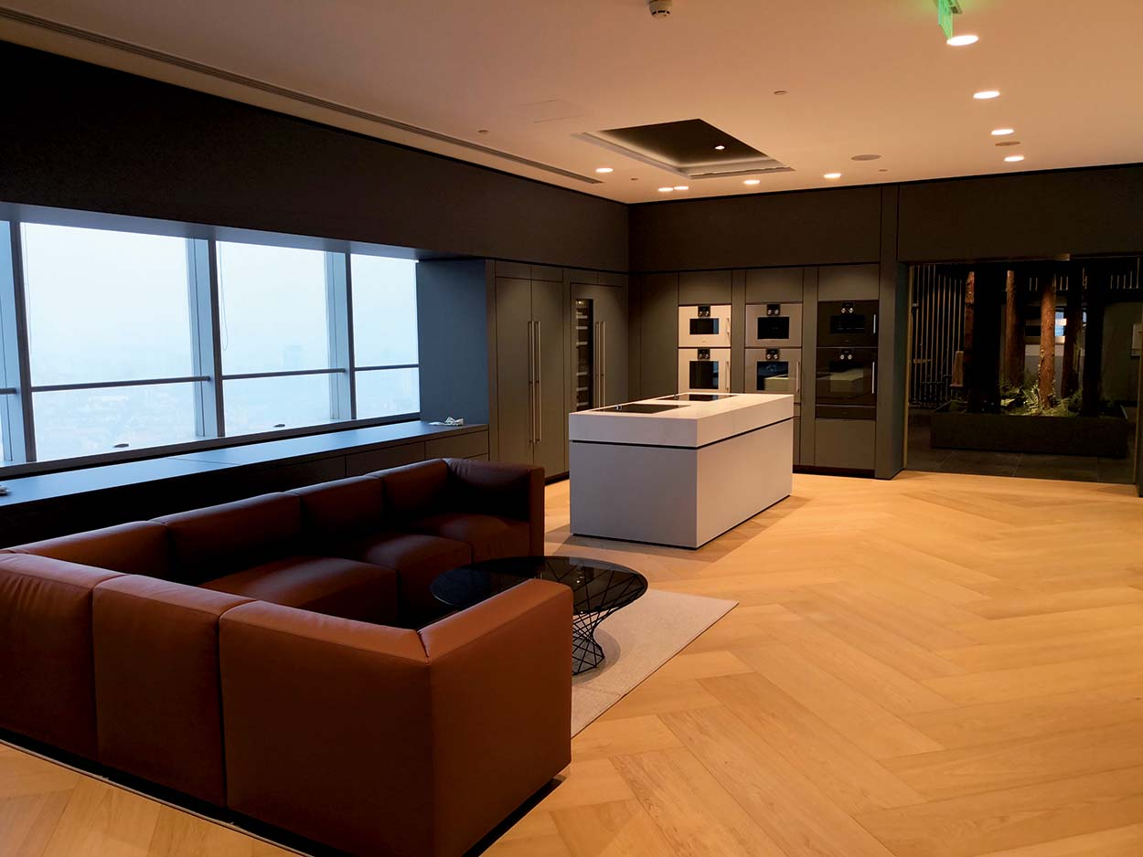 Customer Reception Area - Prodotti Mapei per Showroom Gaggenau - Cina