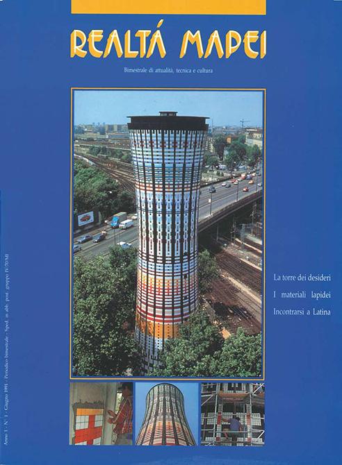 Realtà Mapei primo numero rivista house organ Mapei