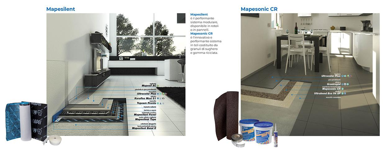 Mapesilent - Mapesonic - Sistemi Acustici Insonorizzanti Mapei