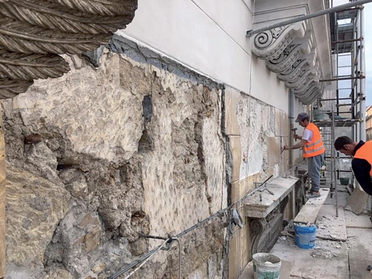 Palazzo Filangeri dei Principi di Cutò_Mape_restauro-soluzioni-approvate-da-Sovrintendenza_applicazione Mape-Antique FC Grosso e SILANCOLOR di Mapei