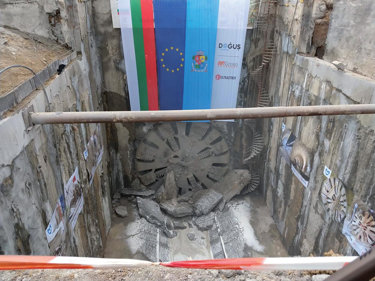 Metropolinata di Sofia - Bulgaria - Per lo scavo con TBM sono stati forniti POLYFOAMER FP/L e il sigillante MAPEBLOX T