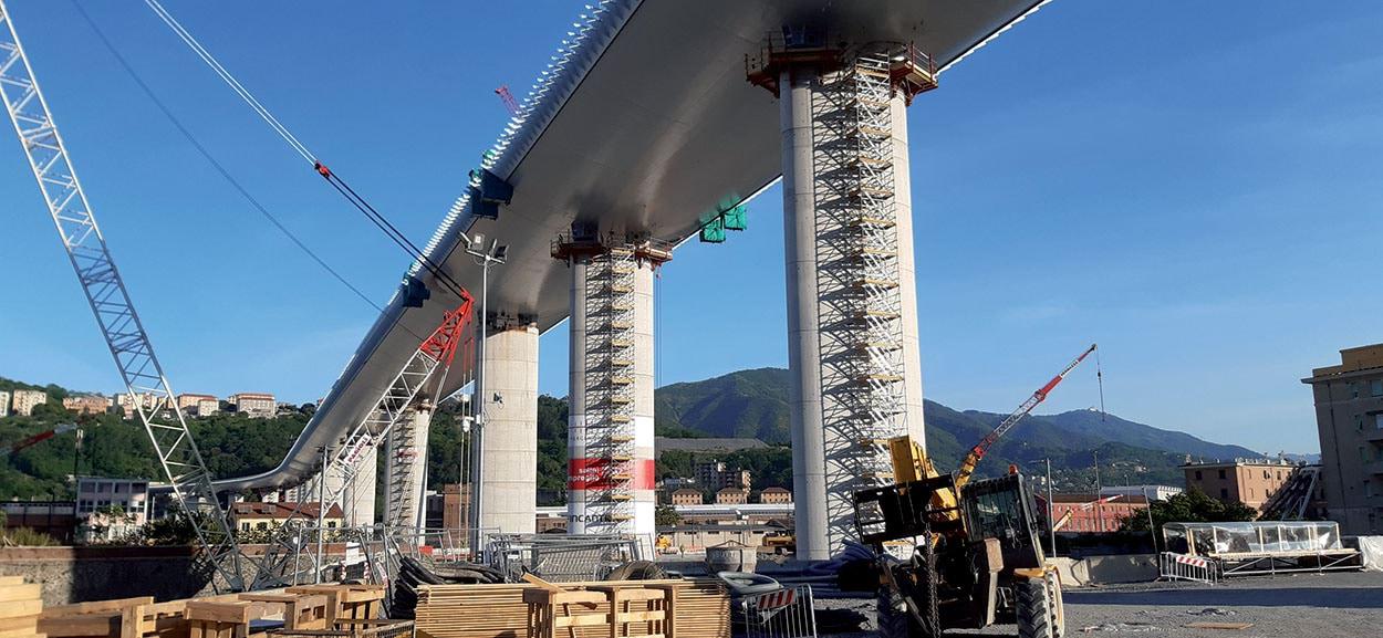 Ponte Morandi ora nuovo Ponte di Genova - il Ponte San Giorgio e i prodotti Mapei (2)
