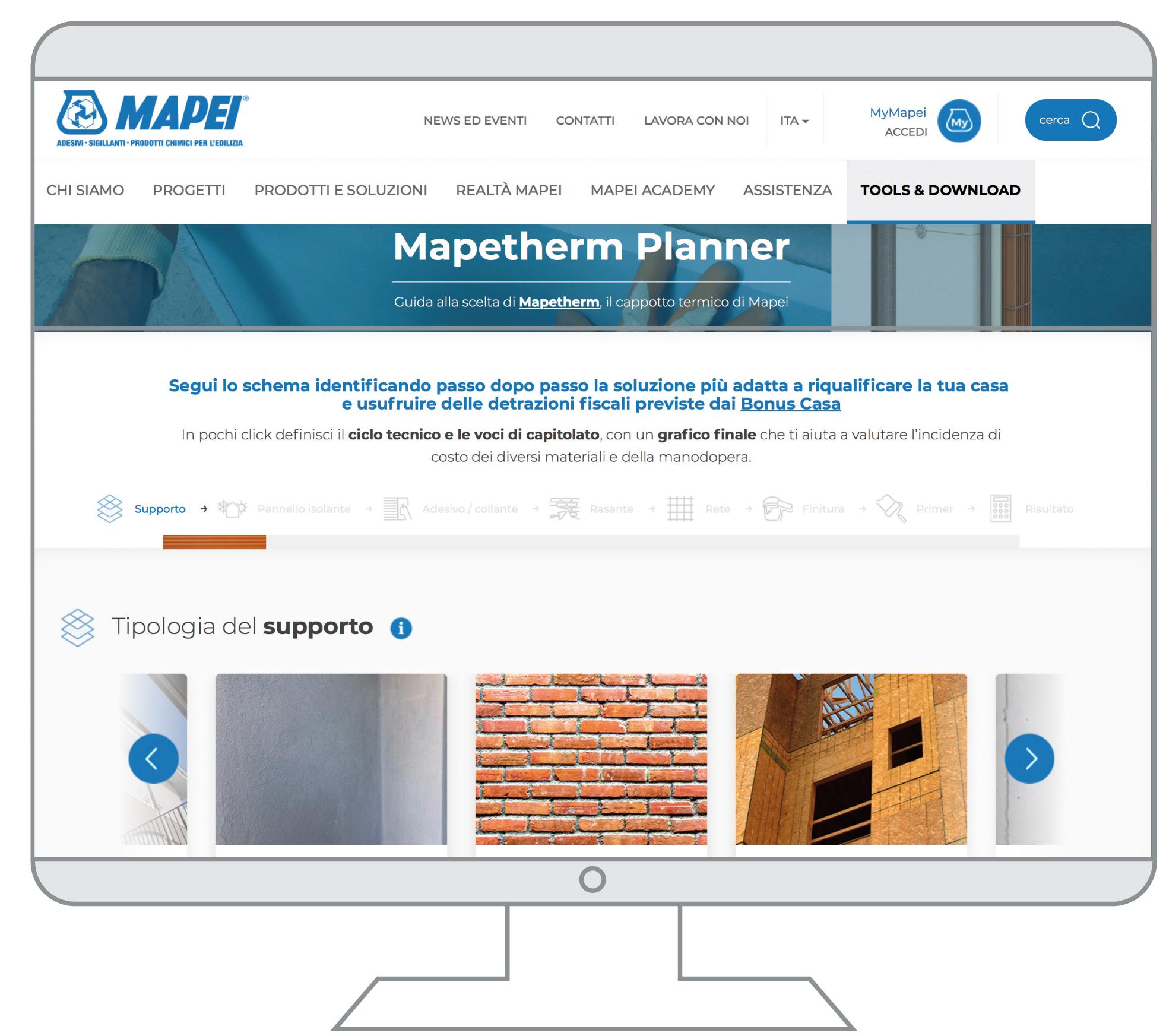 Mapetherm_Planner_Mapei_nuovo strumento online per calcolo voci di capitolato e costi_
