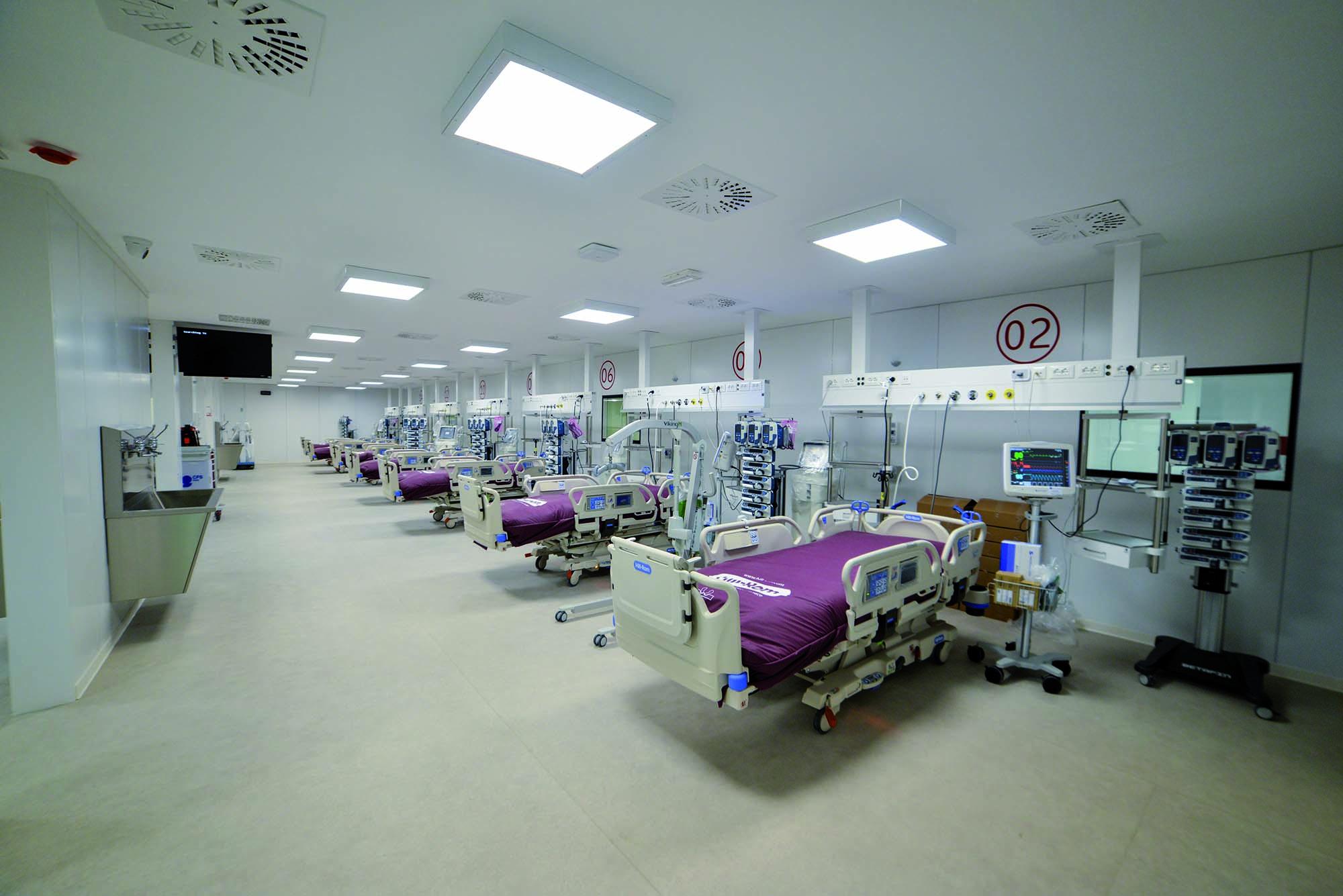 Pavimentazioni in PVC all'Ospedale Covid alla Fiera del Levante di Bari