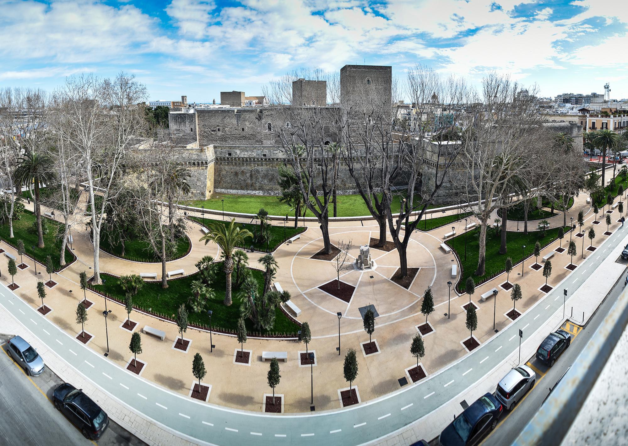 Giardini Pubblici Isabella d'Aragona (secolo XIX), Bari_Panoramica_Mapei Color Paving