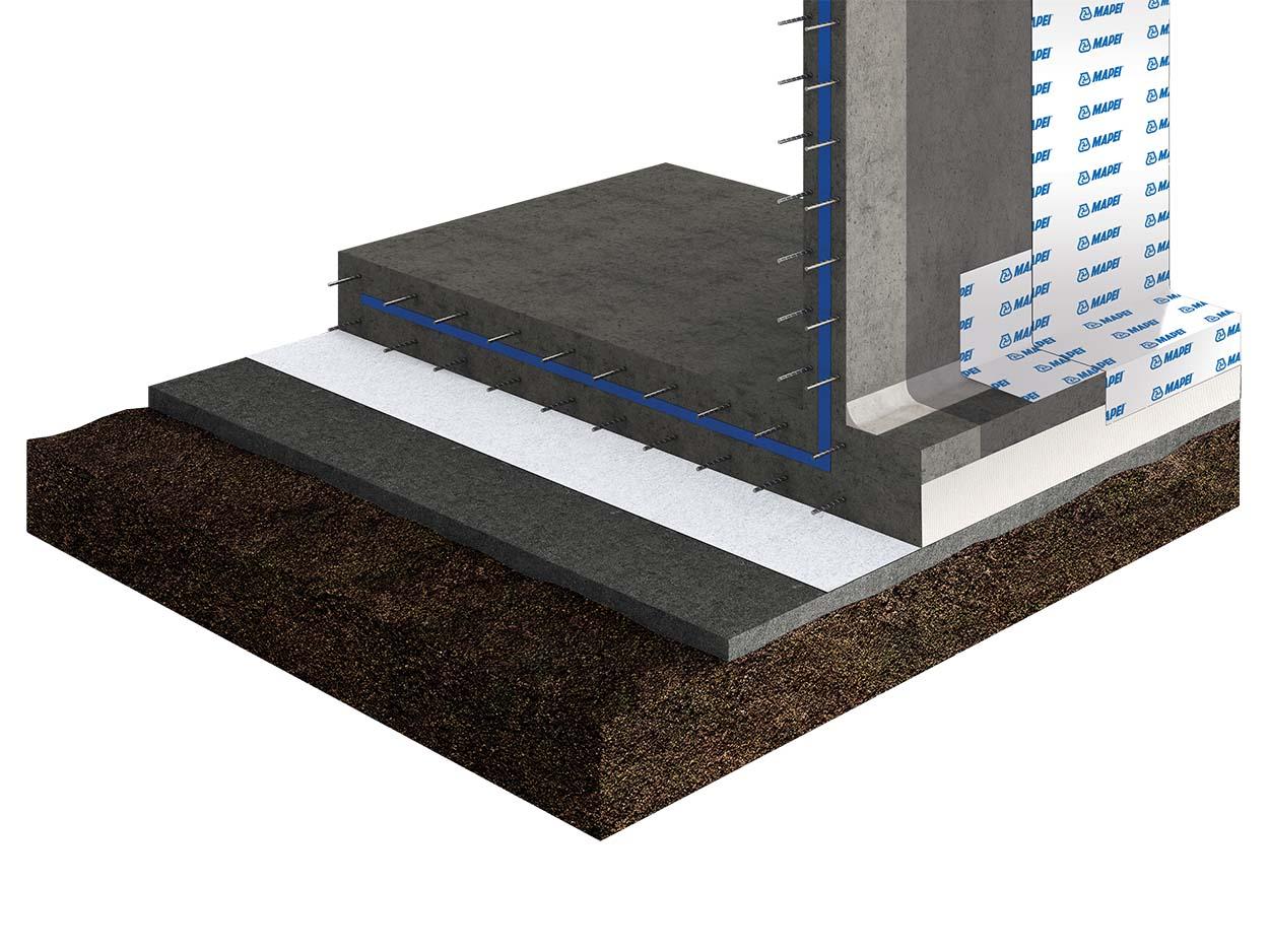 Gas Radon_Mapethene di Mapei_Impermeabilizzazione pareti controterra