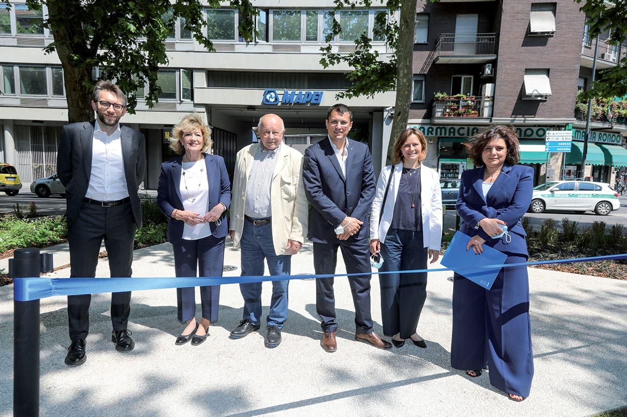 Da sinistra Pierfrancesco Maran Assessore Milano - Laura Squinzi - Franco Giorgetta - Marco Squinzi - Simona Giorgetta - Veronica Squinzi