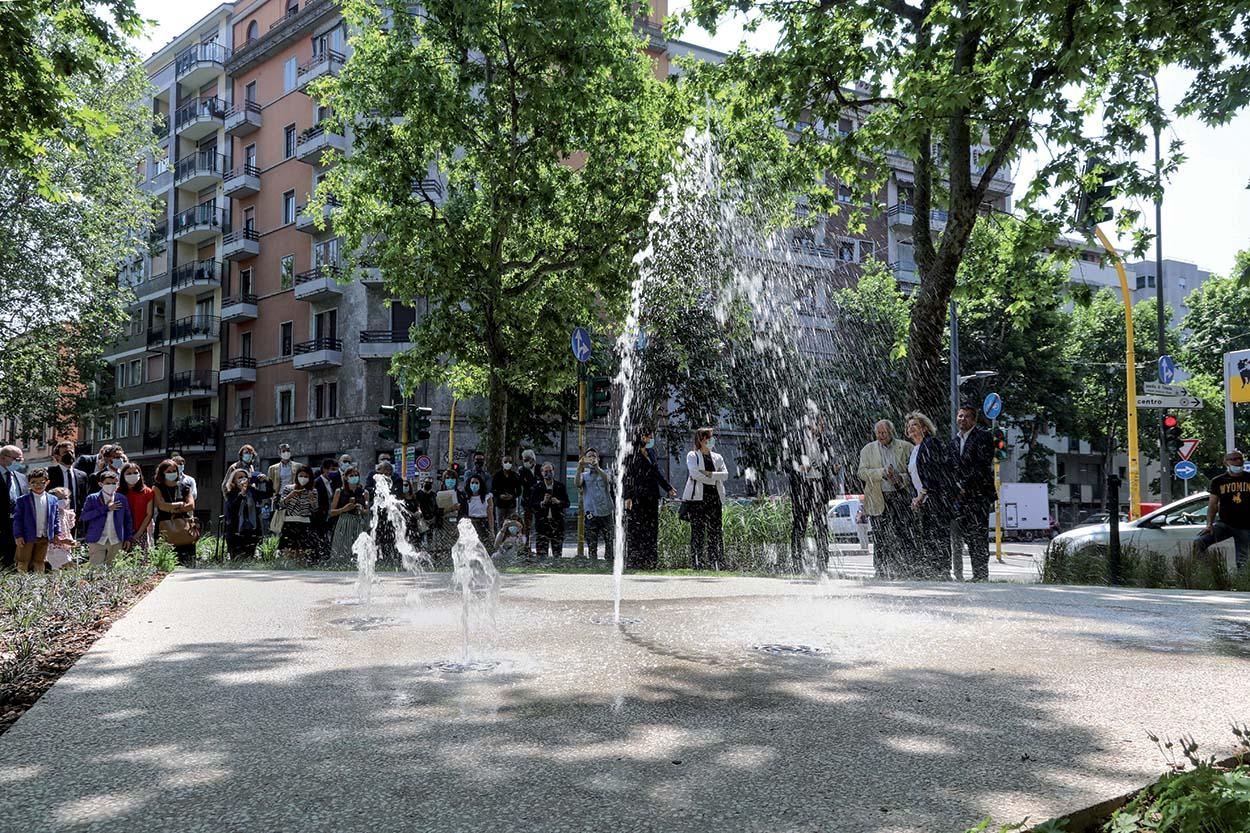 Fontana Viale Jenner - Mapei con il Comune di Milano