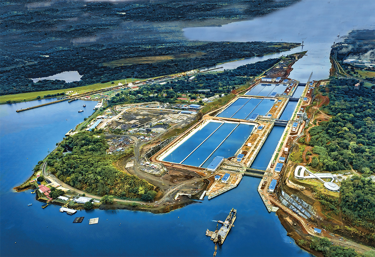 Mapei in the doubling of the Canal_Panama Canal_overview picture