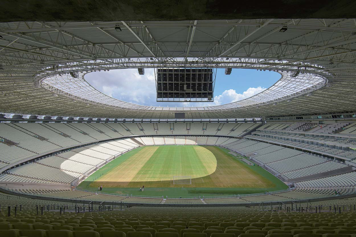 Estádio Castelão in Fortaleza, Brazil. Mapei products and systems