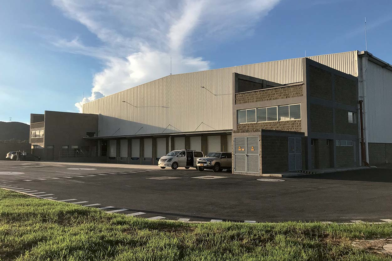 The Mapei Colombia plant in Bogotà.