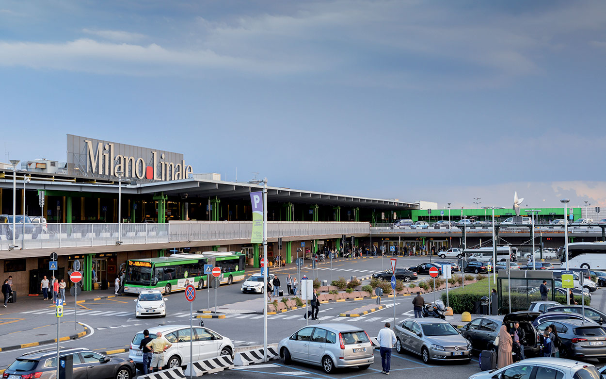 Mapei adhesives joints seals used for the Milan airport of Linate_25 km of Mapeflex sealant_shutterstock_716879914