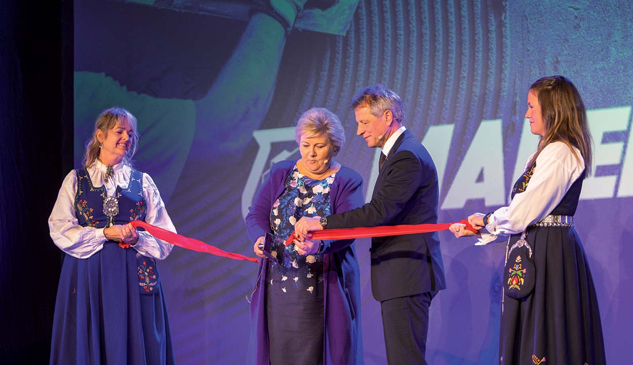Mapei in Norway new plant_ribbon cutting ceremony