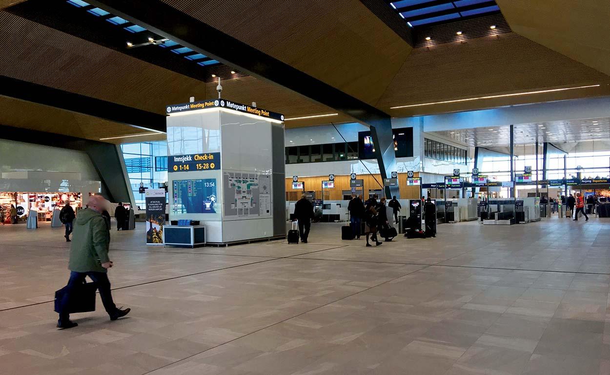 Bergen_Airport_Flesland_2017_prodotti Mapei nell'aeroporto di Bergen in Norvegia_Terminal 3