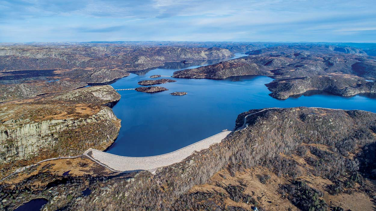 Mapei-Skjerkevatn Dam-Diga Skjerkevatn_Agder Energi_Norway