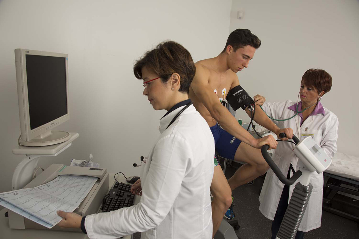 Mapei Sport Research Centre_welfare at worksite for Mapei staff_workplace benefits_ECG-test2