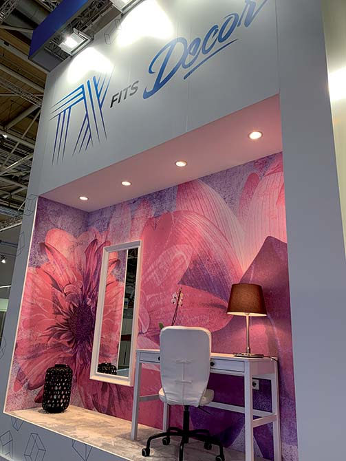 Mapei solutions at Domotex 2020 - products for textile_Mapei booth - The Mapei stand at Domotex for home interiors and the hospitality industry, for which the latest Decor and TX lines are just the right combination