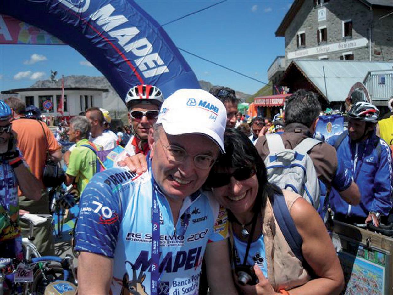 Mapei Stelvio 2007 Event - Giorgio Squinzi and Adriana Spazzoli
