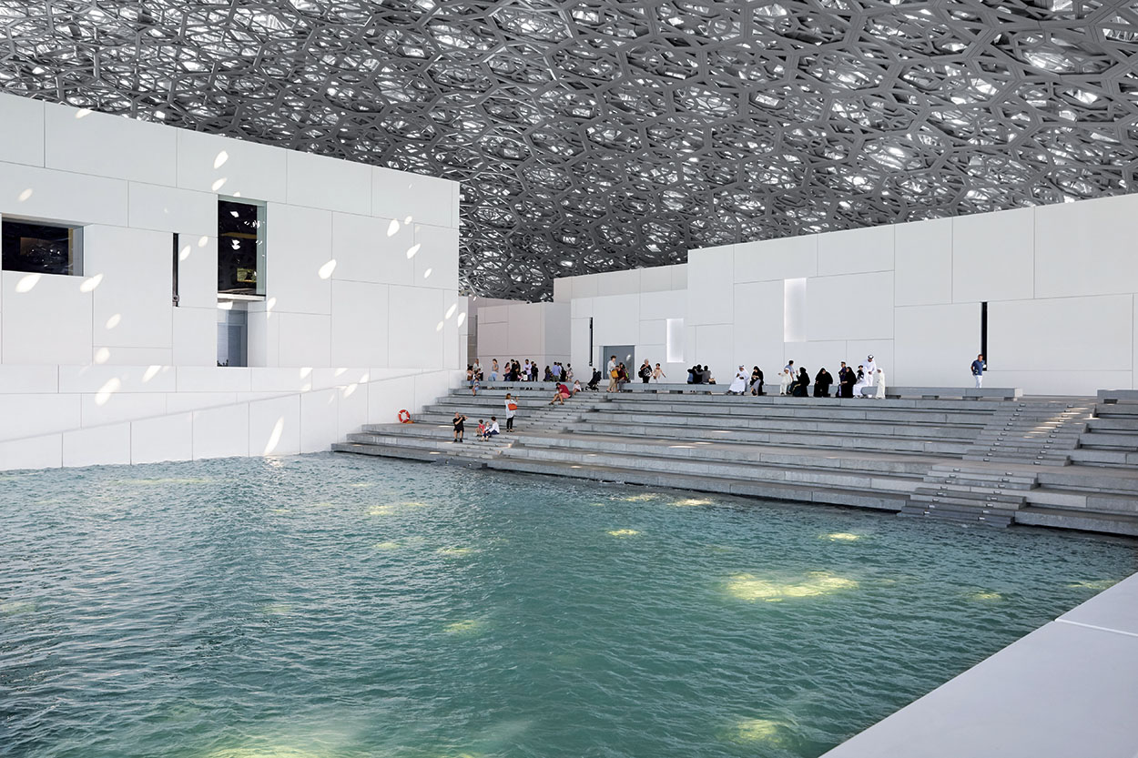 Mapei products for the Louvre museum in Abu Dhabi - marble installation - grouts - sealants - concrete 2