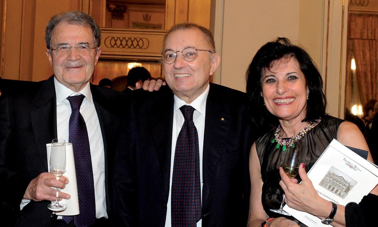 Prodi - Giorgio Squinzi - Adriana Spazzoli