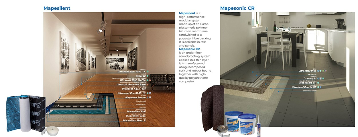 Mapesilent - Mapesonic - Acoustic Insulation Systems by Mapei