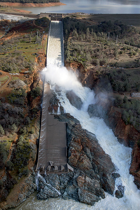 Oroville Dam Spillway in California  - Mapei products to strengthen the dam's structure
