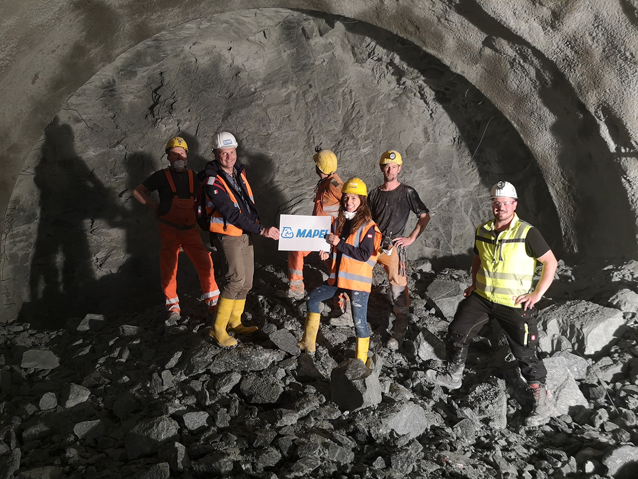 The Semmering Base Tunnel - Austria - Andrea Kapoun Marketing Manager of Mapei Austria was the tunnel's patron