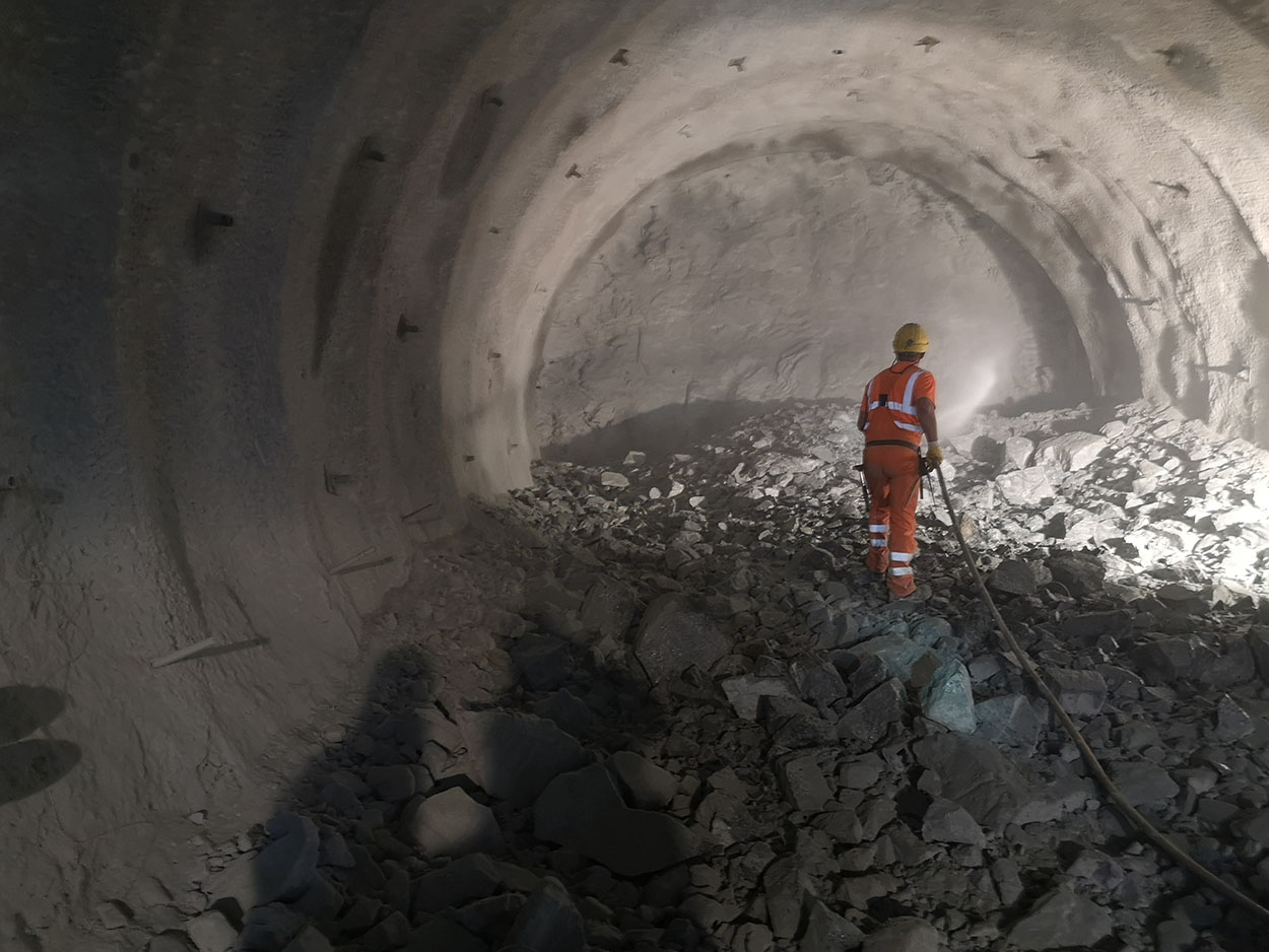 The Semmering Base Tunnel - Austria - Mapei delivers  admixtures for concrete - inside the tunnel