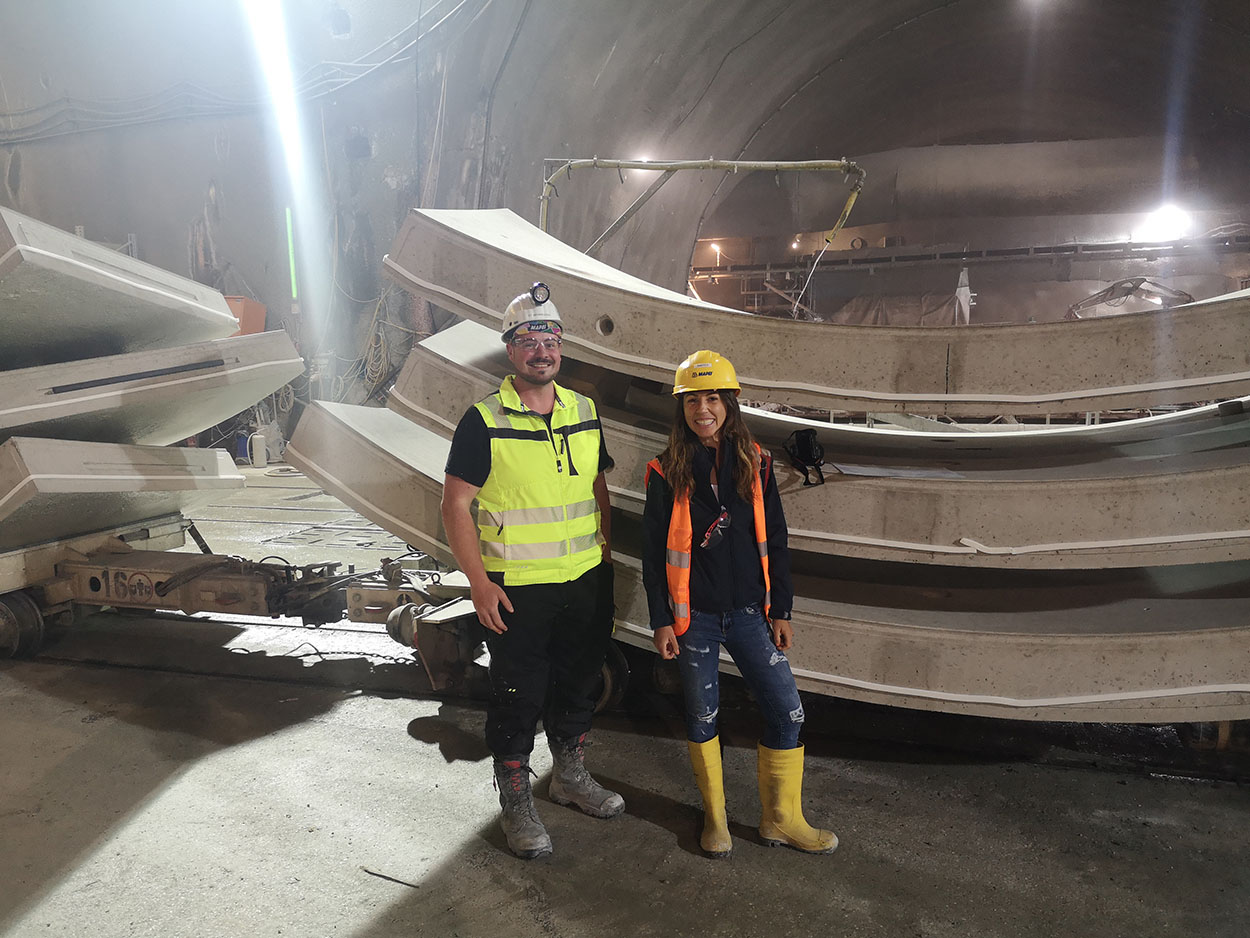 The Semmering Base Tunnel - Austria - Mapei delivers  admixtures for concrete - Mapei Austria Team on the construction site