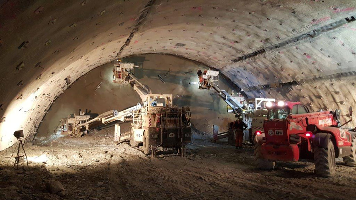 The Semmering Base Tunnel - Austria - Mapei delivers  admixtures for concrete_Vortrieb_Kalotte_LK2O (3)