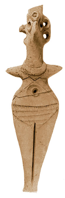 Terracotta figurine of a woman, 1750 BC height 14.4 cm Gaziantep Archaeological Museum