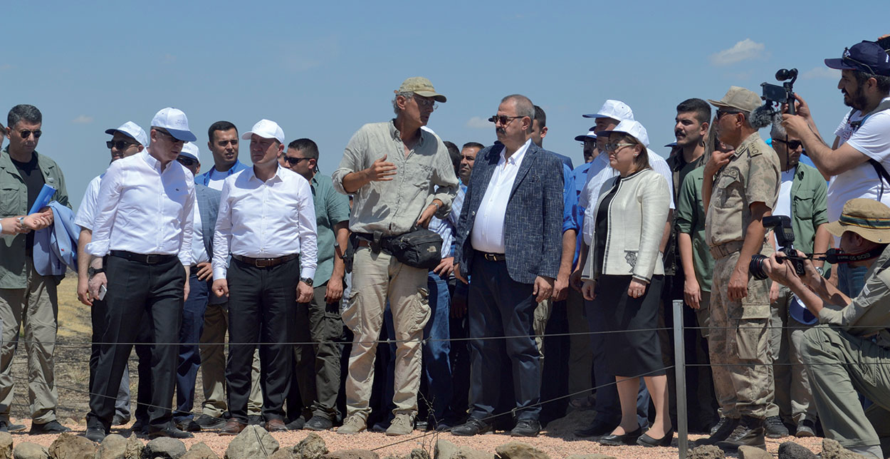 The official opening of the archeological park in Karkemish on 13 July, 2019