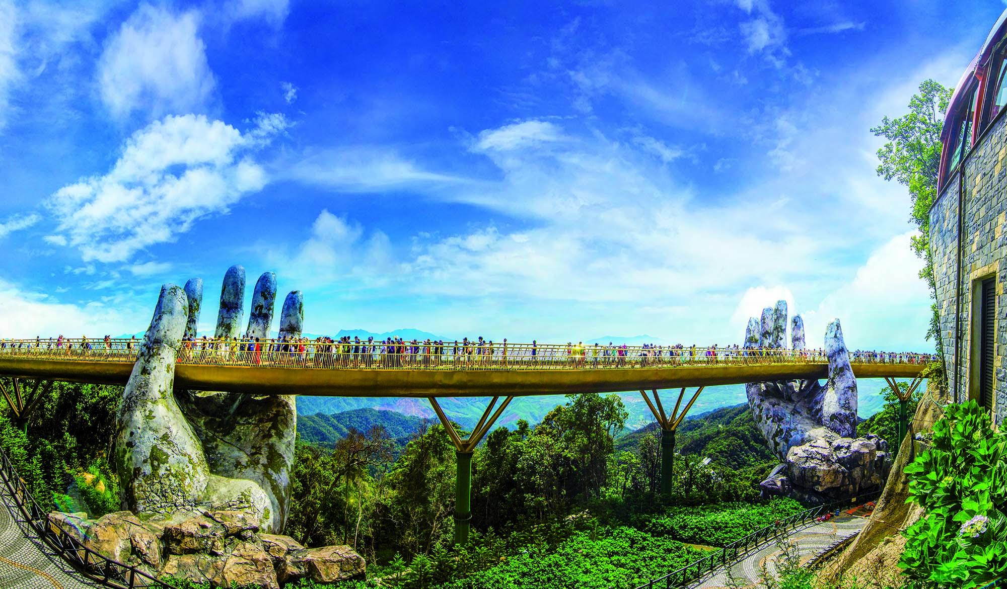 Mapei admixtures for the Golden Bridge in Vietnam_shutterstock_1445900414