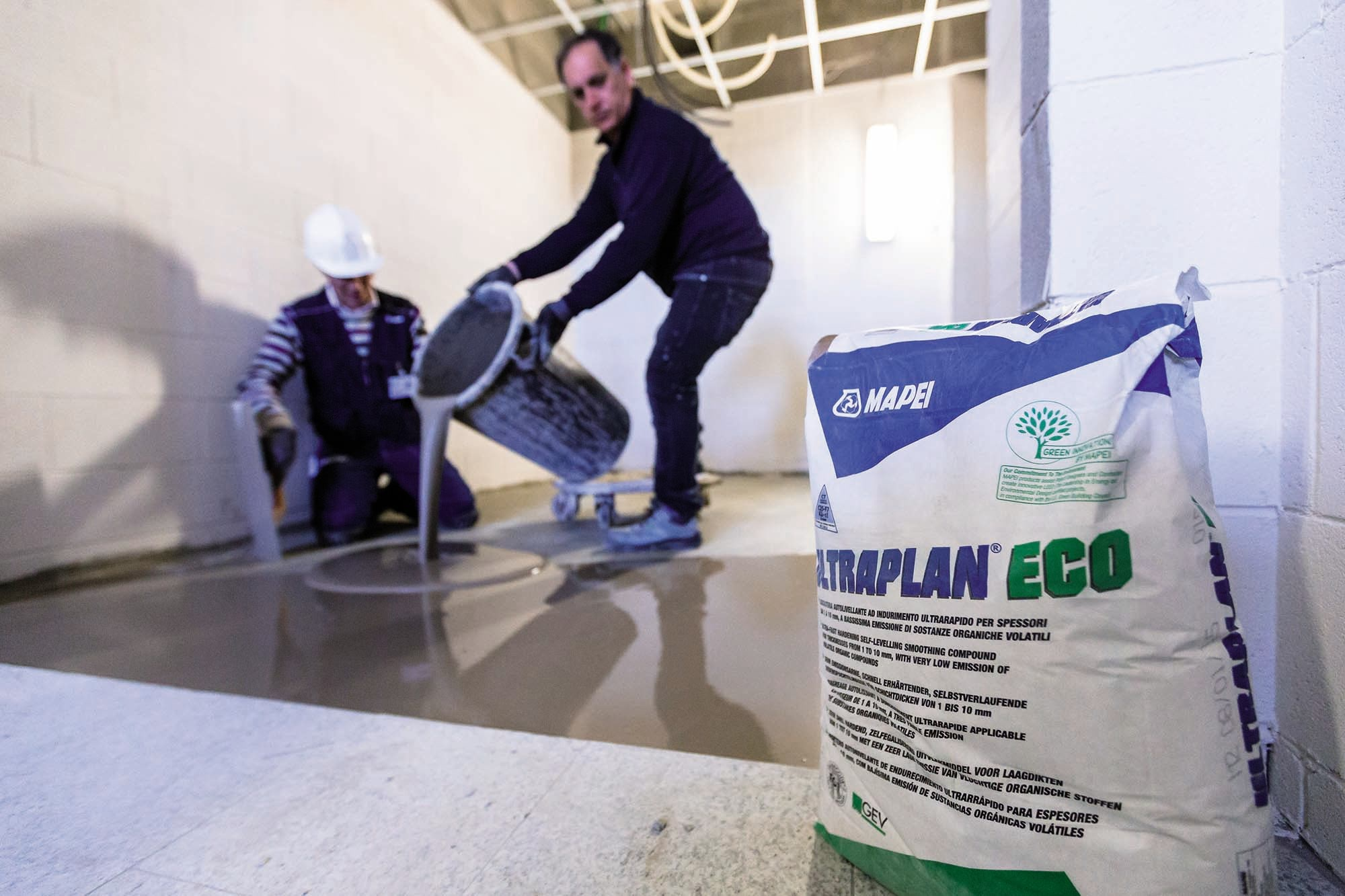 Mapei's Ultraplan Eco applied at the San Gerardo Hospital in Monza Italy