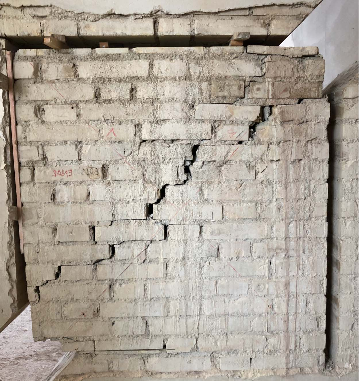 failure mode of a panel_Seismic and energy efficiency upgrading work with new Mapei technology_Ginobili Primary Schoo