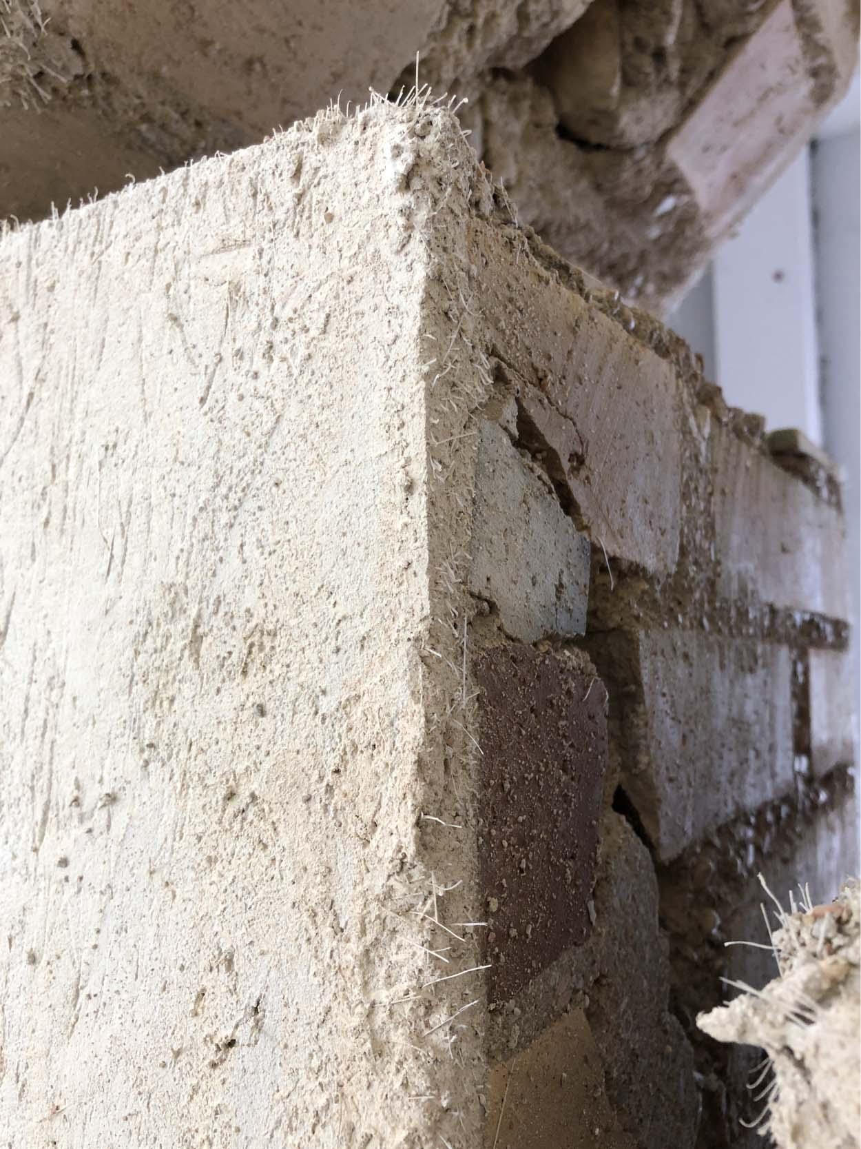 masonry panel_Seismic and energy efficiency upgrading work with new Mapei technology_Ginobili Primary School