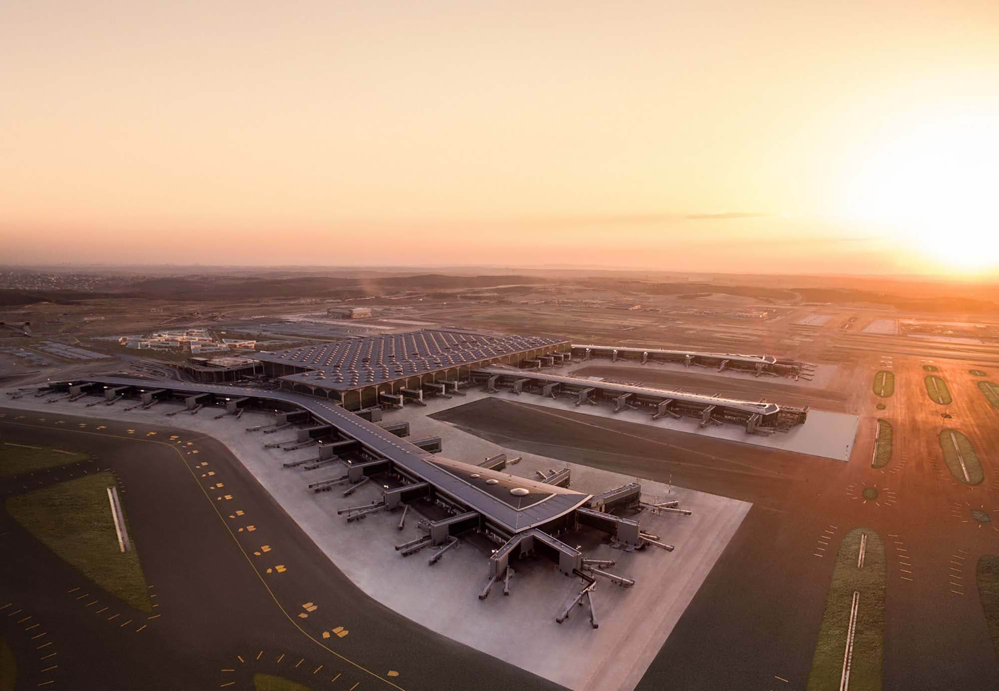 Istanbul Airport - drone view