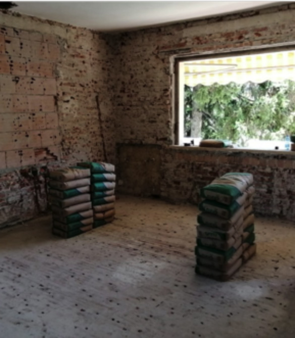 Foto 3_a -  Mapei jobsite in an Italian villa - strengthening and seismic upgrading work