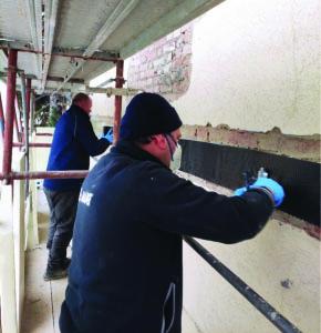 Mapei jobsite in an Italian villa - strengthening and seismic upgrading work (4)