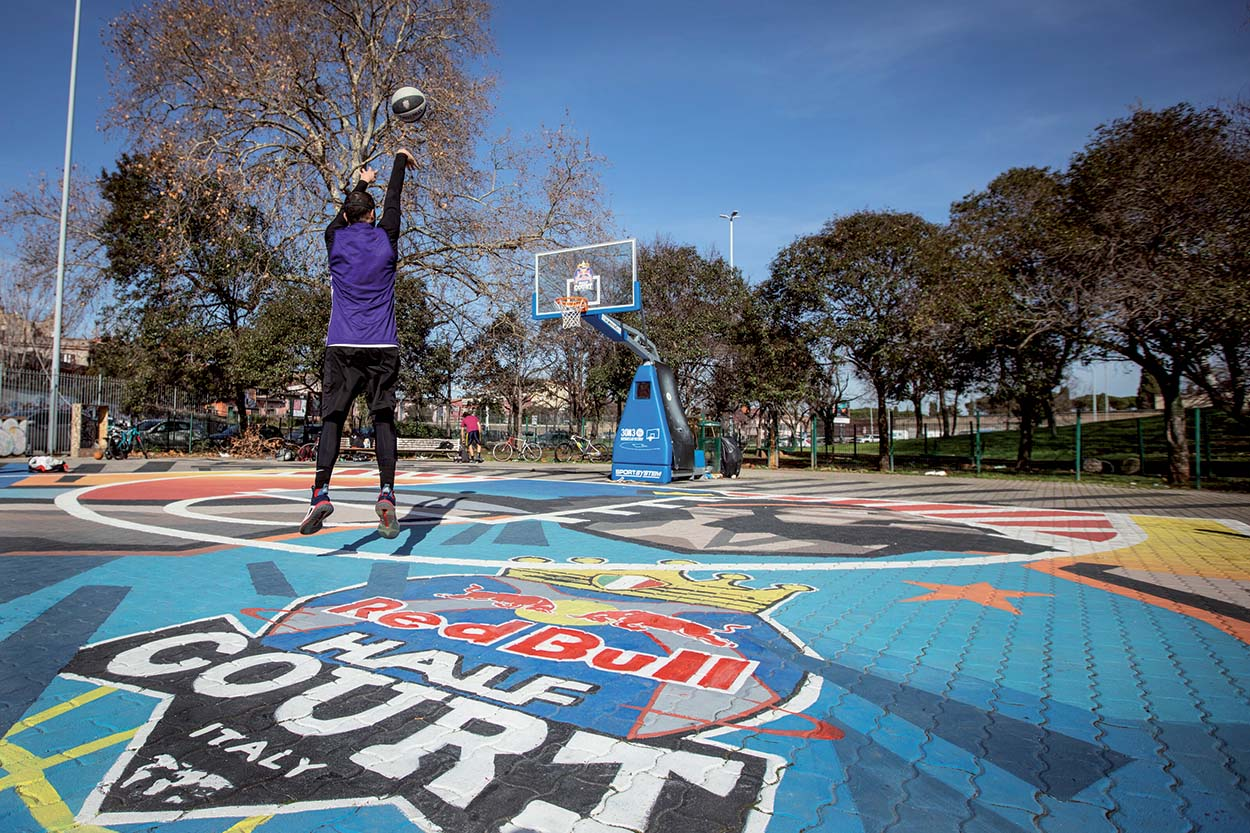 Basketball court in Rome_Red Bull Half Court Tournament_Mapei (2)