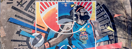 Mapei for Red Bull's basketball court in Rome